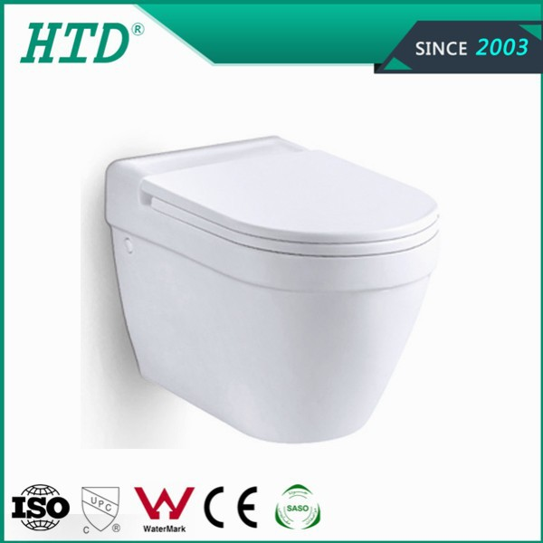 HTD-K812A New model wall hung toilet P-trap 180mm
