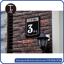 Customized house number plates building engraved signs outdoor acrylic signs