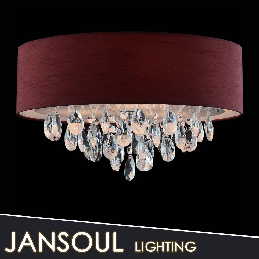 various colorful chandelier fabric shade ceiling led buried round crystal lights