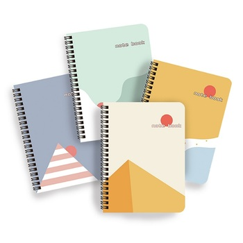 Elegant Assorted Colors Printing Wire O Binding A5 Spiral Notebook
