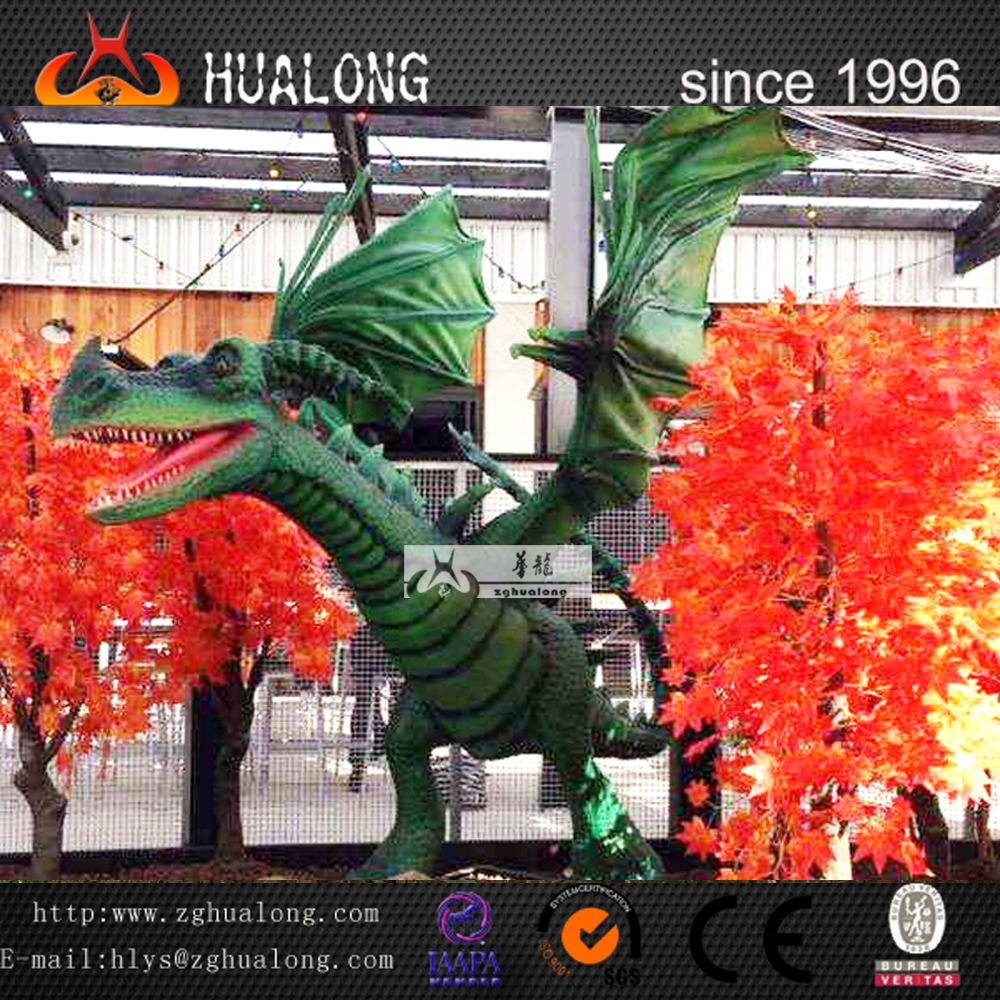 Amusement equipment giant artificial flying dragon and prehistoric animals