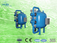Fish pond water bypass filtration sand filter