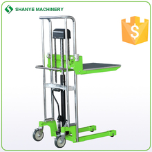 Small 400kg manual forklift manual pallet stacker