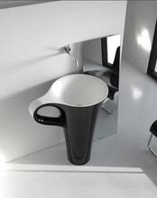 small pedestal sinks/stone basins/bathroom sinks in cup design