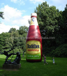 2017 Hot sale inflatable ketchup bottle for advertising