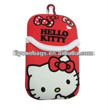 Hello Kitty neoprene cell phone pouch