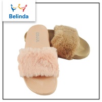 Alibaba Wholesale Flat Fur Slippers Sandals