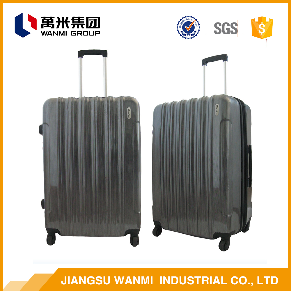 Online shopping China smooth abs travel leisure luggage handle parts bag sets