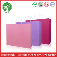 Have stock low cost paper bag for shopping 25kg kraft paper bag