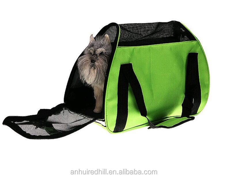 soft pet carrier/Pet Dog Cat Carrier Soft Travel Tote Airline Approved/foldable and soft pet carrier crate