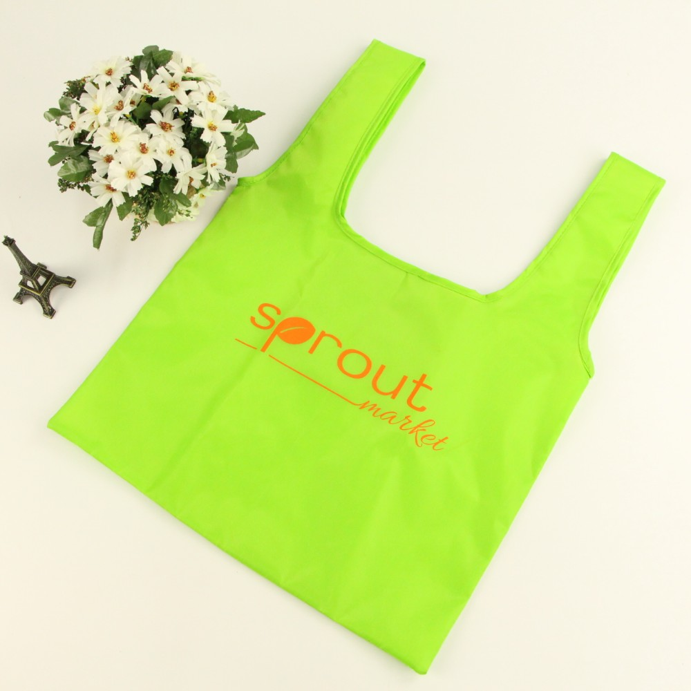Promotion Cheap bag190T 210D Printed Custom Reusable Polyester Bag Foldable polyester shopping bag