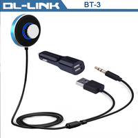 BT-3 Bluetooth 4.0 Hands Free Talking Wireless Audio Receiver car kit with Siri Dual USB 3A Car Charger