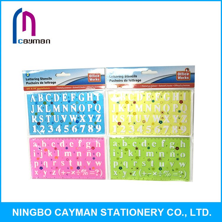 Total quality controled plastic stencils