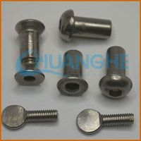 new product carbon steel anti-rust screw with silver zinc plated