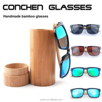 bamboo sun glasses mirror coating handmade bamboo sunglasses