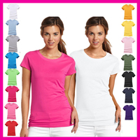 China wholesale online shopping Women's Basic Cotton Short Sleeves Solid Color O-neck T-shirts