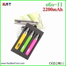 2016 hanoson Ego II 2200 mah Rainbow Edition Vape Pen Vaporizer eGo v II 2200mah battery big pen vapor