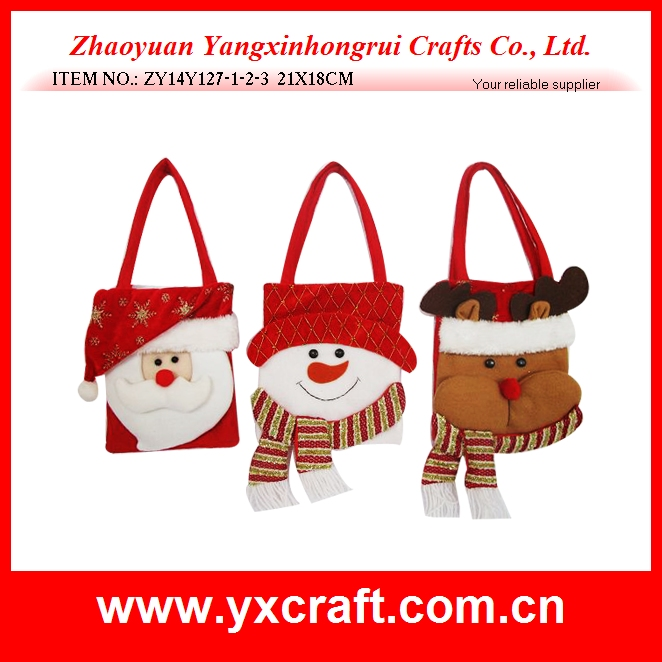 Red Wine Bottle Cover Bags Christmas Party Decors Santa Claus Christmas