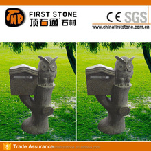 GAMG018 Owl Statue Granite Mail Box