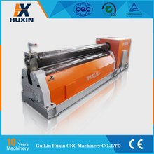 Low cost Mechanical three roller metal plate bending machine / carbon steel pipe making machine / rolling machine