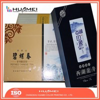Cardboard custom tea packaging box silver gilding matt surface with opp coating