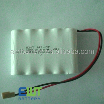 high temp nicd battery pack AA 4.8v 800mah