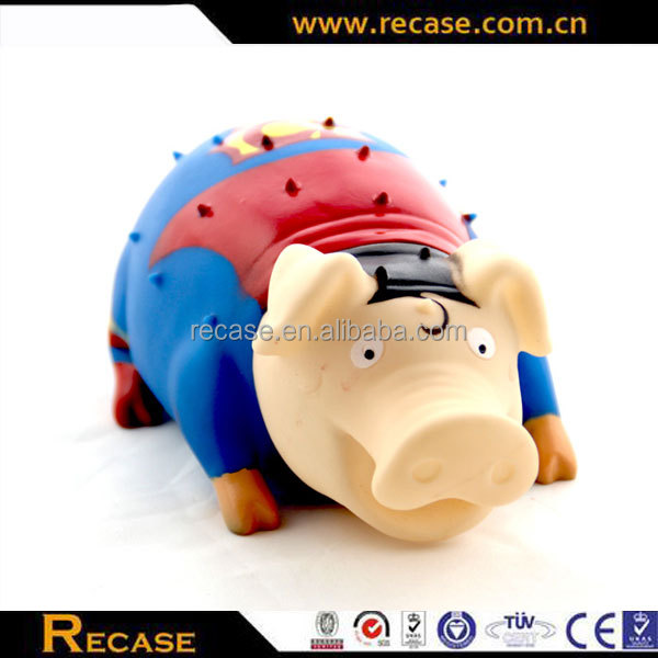 Vinyl toy kids bath rubber toys small chicken and pig pet toys