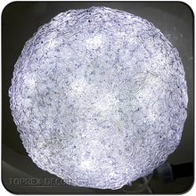 Decoration 2016 D:15cm 50leds ball porcelain christmas ornament