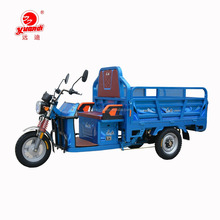 48V 800W Heavy Duty Three Wheel Truck Cargo Electric Tricycle With Car Hopper