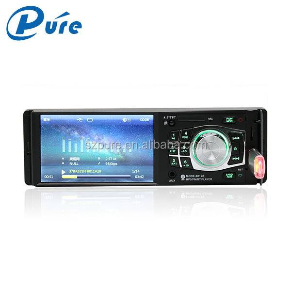 Universal 4 inch hd digital car monitor / one din car lcd monitor with MP5 / MP4 / MP3 / WMA / AM/USB