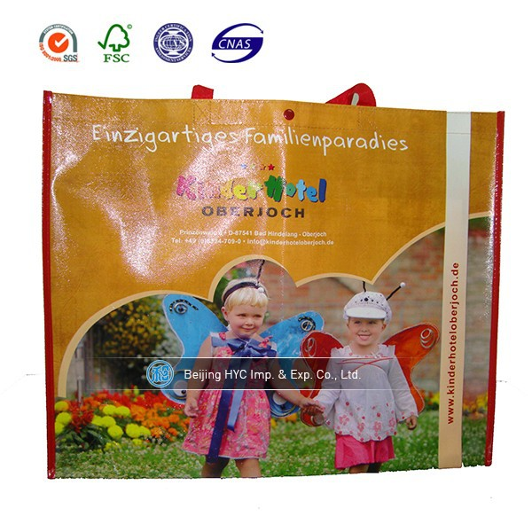 Recycle high quality laminated nonwoven drawstring bag