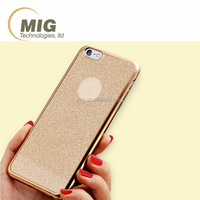 for apple iphone case electroplating bumper and shining Glitter TPU Case Mobile phone cover for iphone 7 or 6 6s 4.7'' Inch