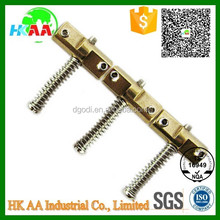 Factory supplier high quality guitar accessories, electrical guitar bridge brass saddles