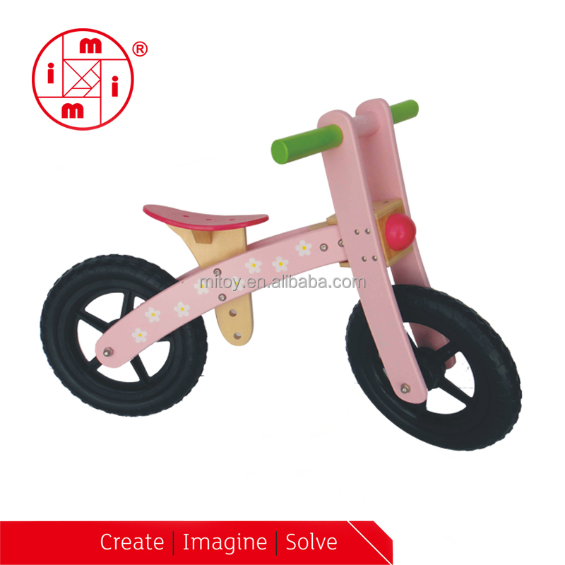 12 inch Kids balance wooden toy vehicles