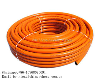 JG 8mm 9mm EN ISO 3821 Orange Soft PVC Gas Hose,Europe CE PVC LPG Gas Hose