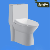 Eco-friendly Feature Floor standing ceramic one piece WC toilet
