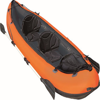 "Bestway 65052 130"" x 37"" 2 man inflatable rubber canoe kayak speed raft kayak"