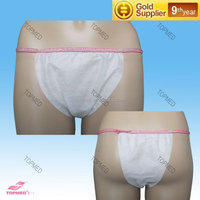 fashion top quality girl transparent sexy panties/disposable woman bikini/disposable non woven underwear factory