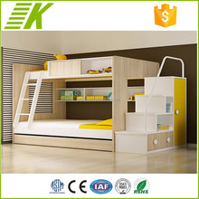Fashionable wood children bunk bed car children loft bed with slide