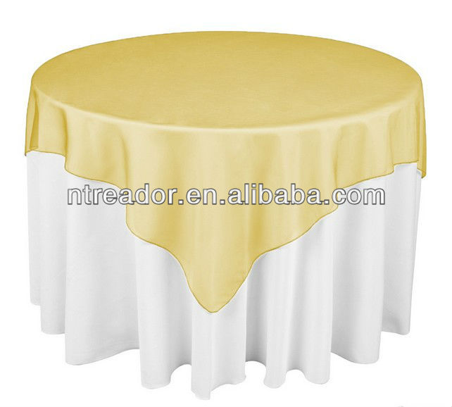 72 in, organza table overlay gold