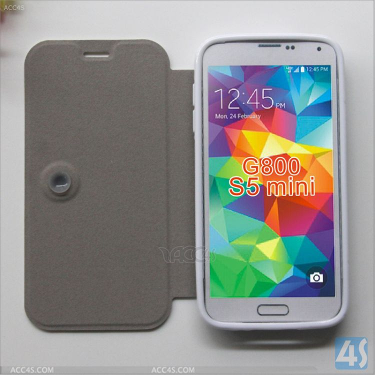 Mobile Phone Protective Leather Cover for Samsung Galaxy S5 Mini P-SAMG800PUCA005