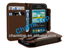 For Samsung Galaxy S3 Mini Flip Wallet Case with Strap
