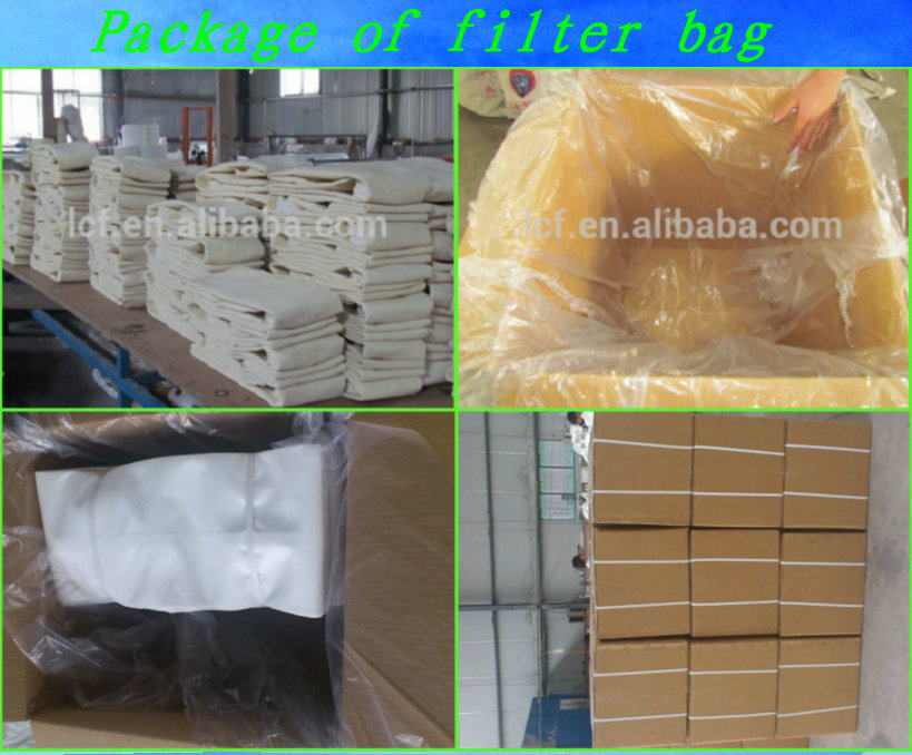 Polyester dust collector filter bag with PTFE coating for power filter