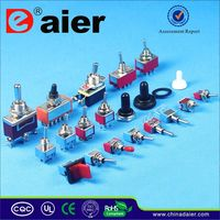 Daier colored electrical 3 position toggle switch