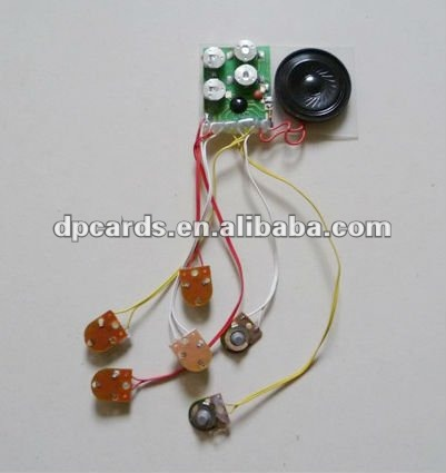 Greeting card music chip/music module