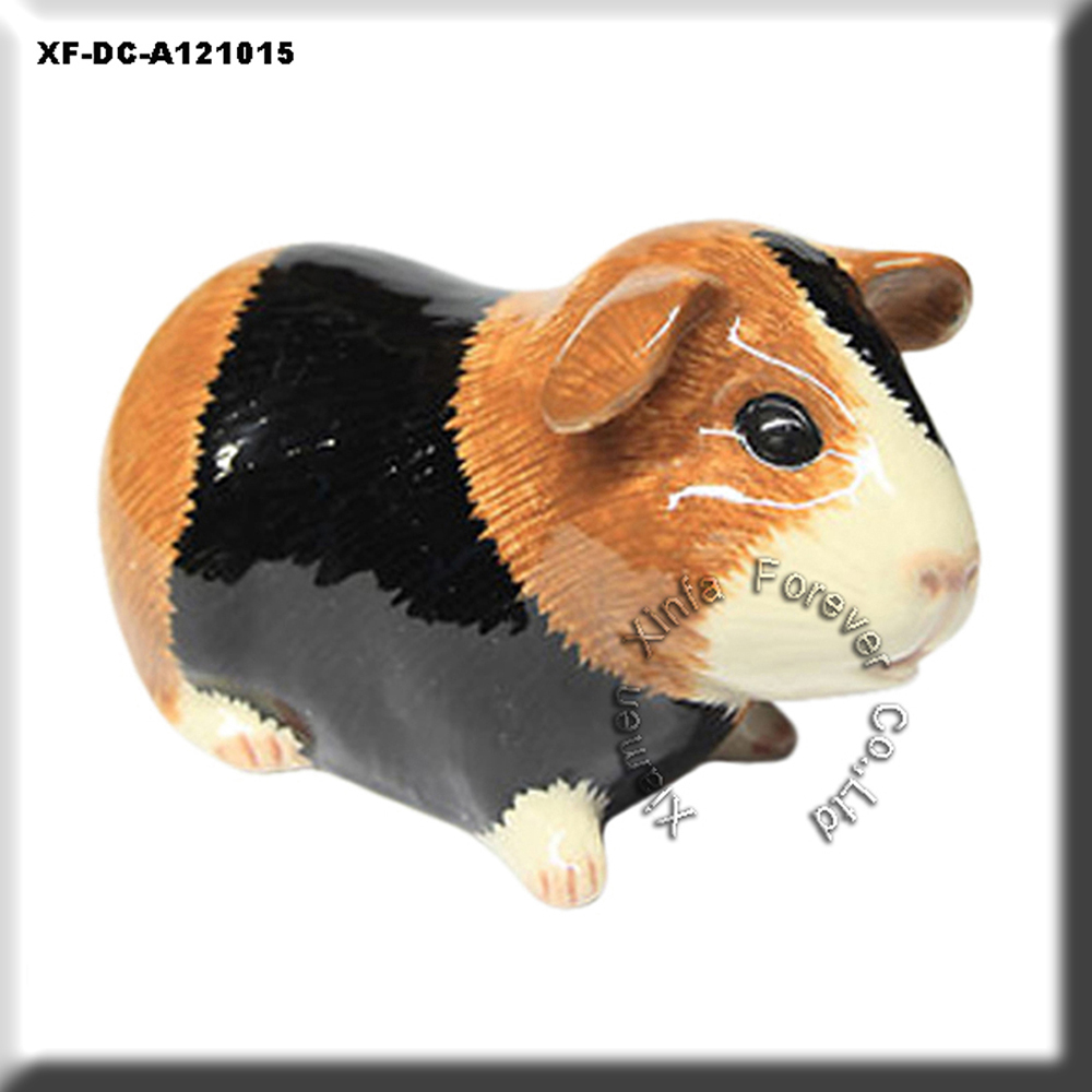 "beatiful 5"" ceramic rat statue"
