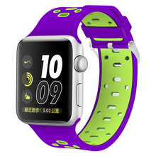 Durable replacement rubber watch strap for iwatch apple watch hot selling on eBay