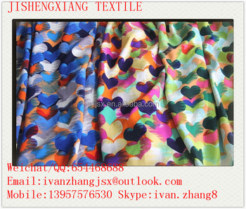 Jishengxiang textile FDY printed spandex fabric,FDY spandex printed fabric,FDY spandex printed knitted fabric