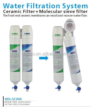 China factory healthy pure ceramic water filter for home
