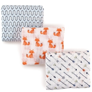 Farm Tractor Printed Woven Knitted Jersey Muslin Security Swaddle Hospital Baby Blanket With Clips